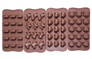 Bộ 4 khuôn chocolate bằng silicone - Bekith